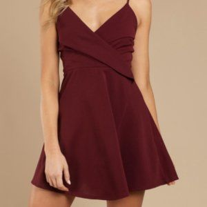 Chic wine skater dress